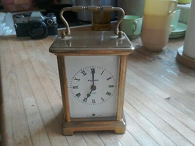 Bayard,CARRIAGE CLOCK EIGHTH DAY Duverdrey & Bloquel  needsTLC .