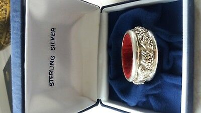 Ox.925 sterling silver Wine bottle drip collar. Very good condition and comes it