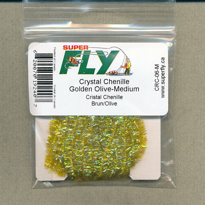olive 3 yd card Crystal Chenille large