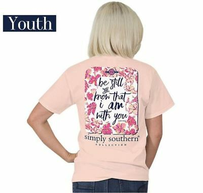 YOUTH Be Still Psalm 46:10 Simply Southern Tee