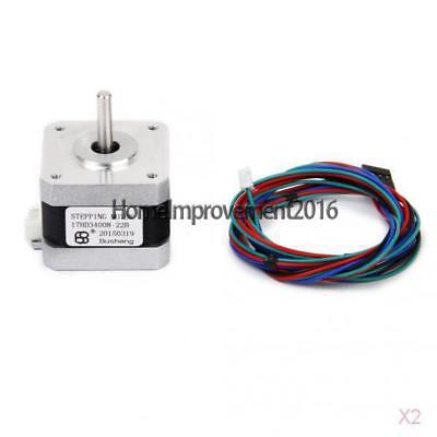 2x Nema 17 3D Printer CNC Two-phase 4-wire Stepper Motor 1.8Deg 17HD34008-22B