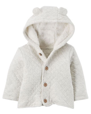 Carter's Sherpa-Lined Quilted Cardigan 6M