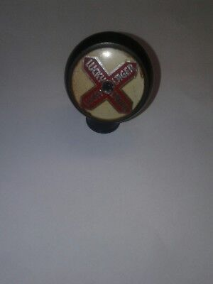 vintage 1940's lucky lager beer tap knob