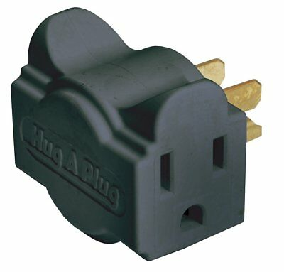NEW - Black Hug-A-Plug Dual Outlet Wall Adapter - FREE SHIPPING