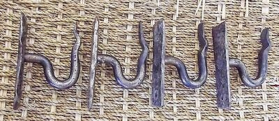 ANTIQUE/VINTAGE HANGING HOOKS, UNUSUAL IRONMONGERY,coat/hat hanger