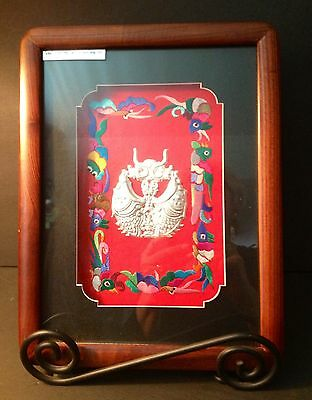 Asian Artwork From Arts of Miao Silver Picture Named Change Ye Boa on Back Label
