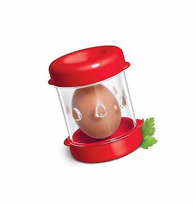 THE NEGG BOILED EGG PEELER RED - NO TAX. FREE 2 day Ship