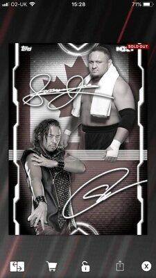 Topps WWE SLAM Digital NXT TakeOver: Samoa Joe vs Shinsuke Nakamura Signature