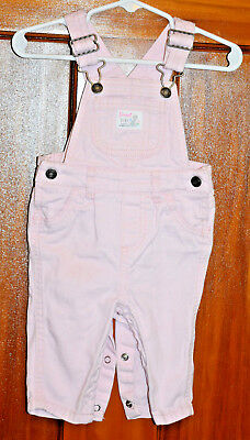 Girls Carters Baby Pink Overalls Suspenders Sweet Girl Happy Everyday with Dog