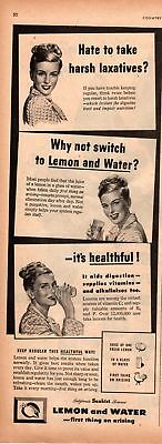1947 Country Gentleman Magazine Advertisement Sunkist Lemons 1 Page A433