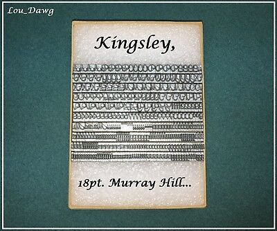 Kingsley Machine Type ( 18pt. Murray Hill  ) Hot Foil Stamping Machine