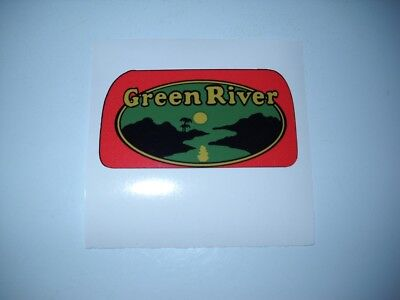 Label for GREEN RIVER Soda Fountain Beverage Syrup Dispenser