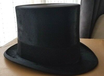 Antique Colbert Marshall Field & Co Silk Top Hat Size 22.5
