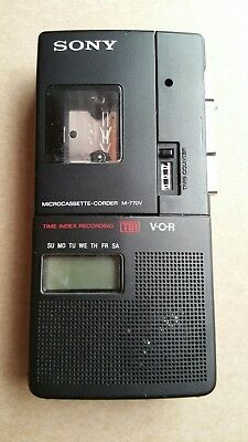 SONY M-770V Microcassette Recorder - For Parts or Repair