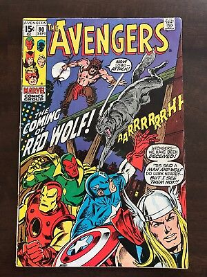 The Avengers #80 High Grade (Sep 1970, Marvel) First Appearance of Red Wolf.