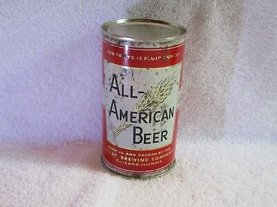 All American Flat Top Beer Can