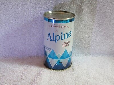 Alpine Lager Flat Top Beer Can