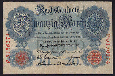 1914 20 Mark VF WWI Germany vintage paper money banknote currency rare antique