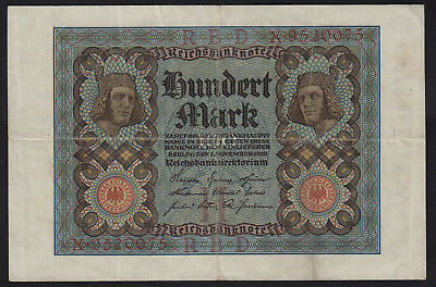 1920 100 Mark Germany Vintage Paper Money Banknote Currency Rare Antique bill