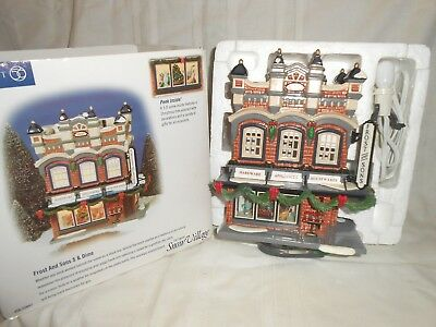 Dept 56 Original Snow Village Frost And Sons 5 & Dime #56.55047 in Box