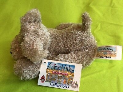 """TOYS R US ANIMAL ALLEY COLLECTIBLES Plush 6"""" small beanie plush dog puppy NEW"""