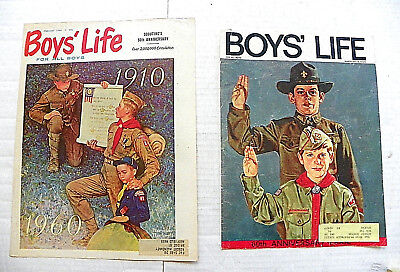 (Lot Of 2) Rockwell's Anniversary Of Scouting Art Work On Boys' Life Mag. Covers