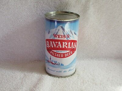 Weiss Bavarian Flat Top Beer Can