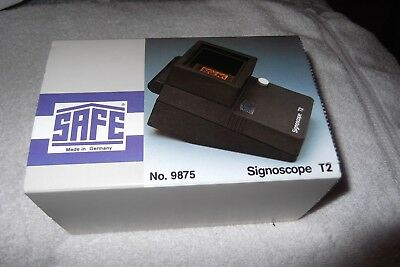 Safe T2 Signascope No.9875 New In Box. 2 Aa Batteries Required