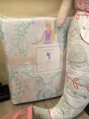 Pottery Barn Kids Bailey Duvet Cover Twin Coral Mermaid #62
