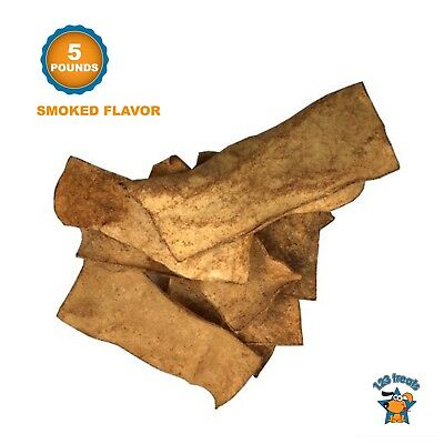Rawhide Chips Smoked Flavor Dog Chews (5 Pounds) 100% All-Natural by 123 Treats
