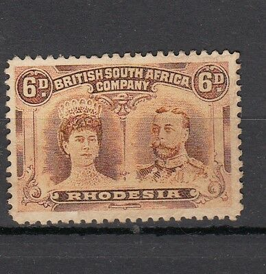 Rhodesia 1910-13 6d Double head MINT Never Hinged SG 145 Cat £65.00