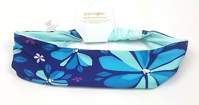 GYMBOREE Blue & Teal Floral Soft  Active Headband One Size NWT