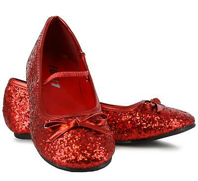 Sparkle Red Ballerina Child Ballet Shoes Fancy Dress Up Accessory
