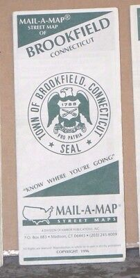 1996 Mail-A-Map Street City Map Brookfield Connecticut