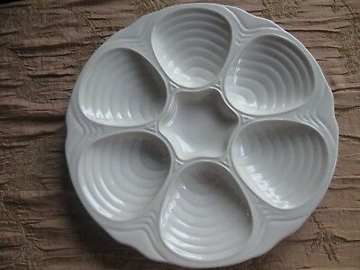 Hall 1151 American Art Pottery Oyster Plate, Clam, Seafood, Shell Made In Usa