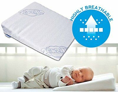 BRAND  Baby Wedge Anti Reflux Colic Pillow Cushion For Pram Crib Cot Bed 37x30