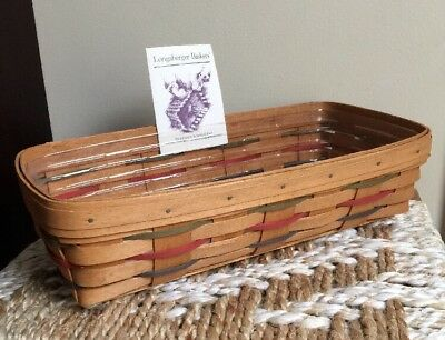 1992 Longaberger Woven Traditions Bread Basket with Protector & Product Card USA