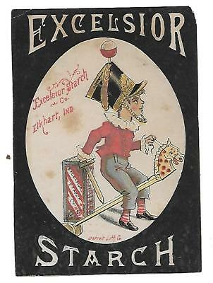 Excelsior Starch Co. Elkhart, Ind. Victorian Trade Card Very Rare