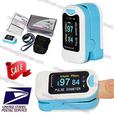 OLED Fingertip Pulse Oximeter Finger Blood Oxygen SpO2 PR Heart Rate Monitor,USA
