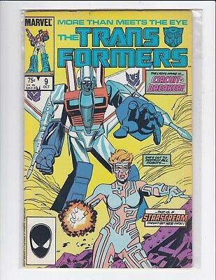 Transformers #9 - Marvel - 1985 - Fine/Very Fine