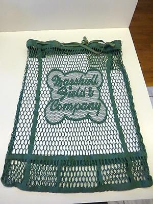 c1940 Vintage Marshall Fields & Company Green String Fabric Tote Shopping Bag