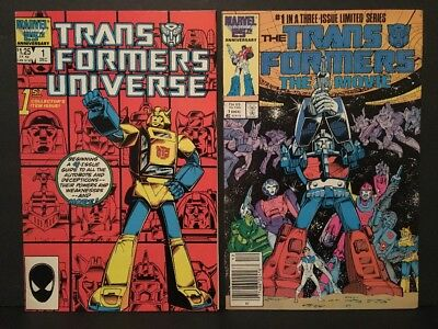 TRANSFORMERS Universe #1 & the Movie #1 Marvel 1986