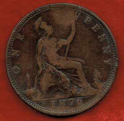 Great Britain Large Penny 1876H..queen Victoria