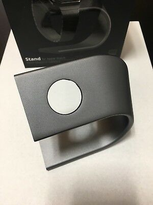 Nomad Premium Aluminum Space Gray Charging Stand for Apple Watch