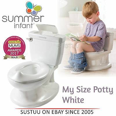 Summer Infant My Size Potty│Baby Kid's Toilet Trainer Seat│Flip Up Chair│White│