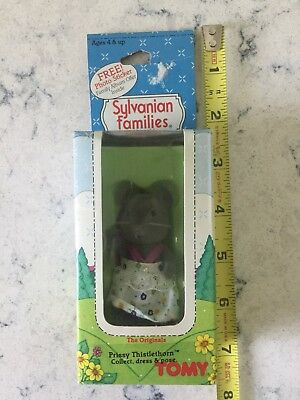 Vintage Sylvanian Families Collectable Originals Prissy Thistlethorn Tomy Mouse