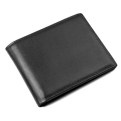 RFID Blocking Bifold Slim Leather Wallet SAFETY & PRIVACY GIFT BOX PACKING MEN