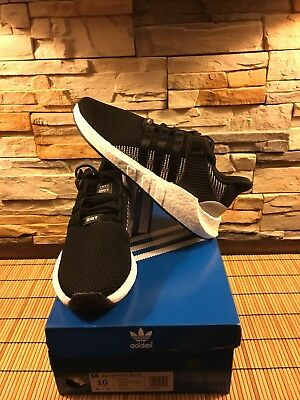 adidas Men's EQT Support 93/17 Running Shoes GG8 Black/White BY9509 Size 10 $180