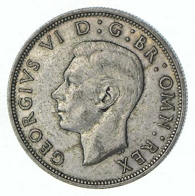 Roughly Half Dollar Size 1941 Great Britain Half Crown - Silver Coin 14.2g *555