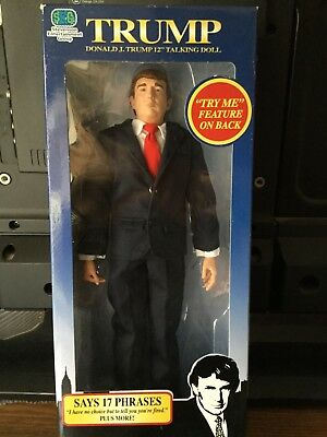"Donald Trump 12"" Talking Doll 17 Phrases Year 2004"